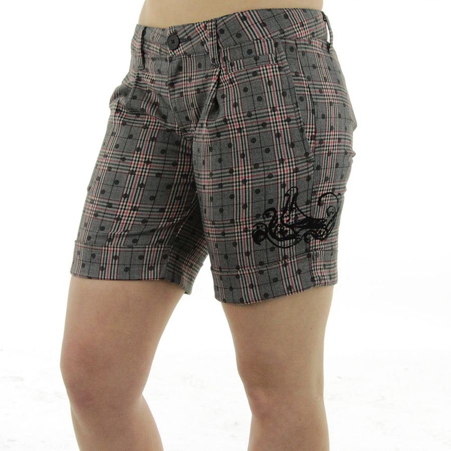 Verona Plaid Women's Shorts/Grey/Black