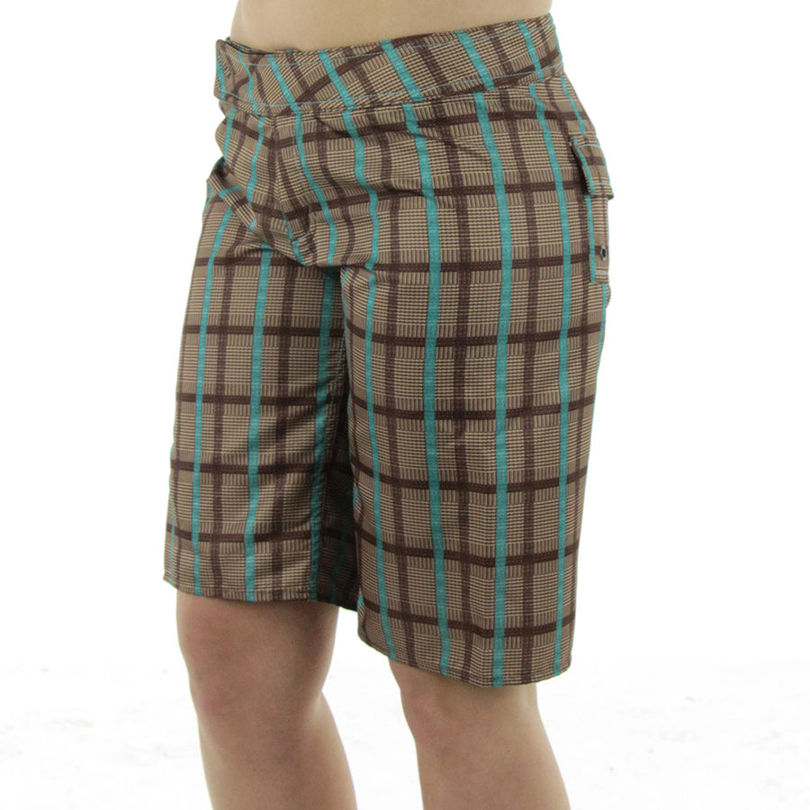 Polly Women's Boardshorts/Brown w/Teal