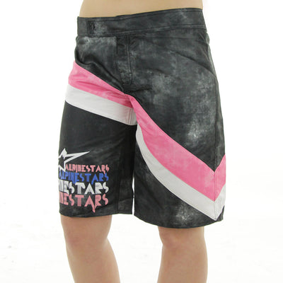 Astar's Deco Women's Boardshorts/Black w/Pink/White