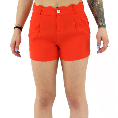 Dress Shorts with Belt Women's Shorts/Poppy