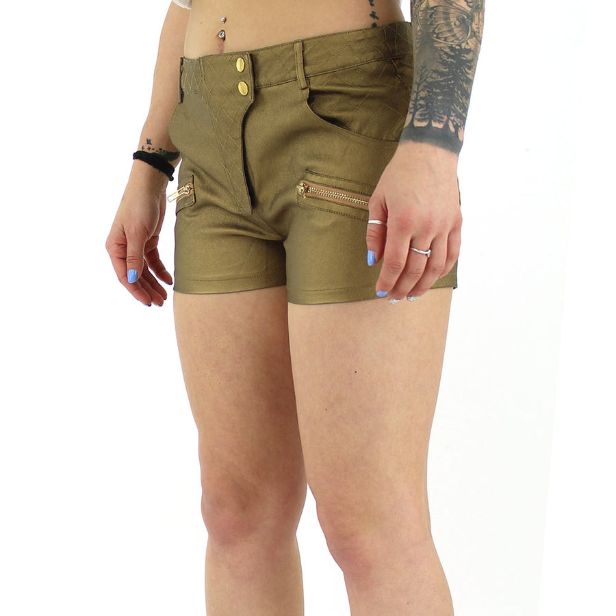 Metallic Women's Shorts/Bronze