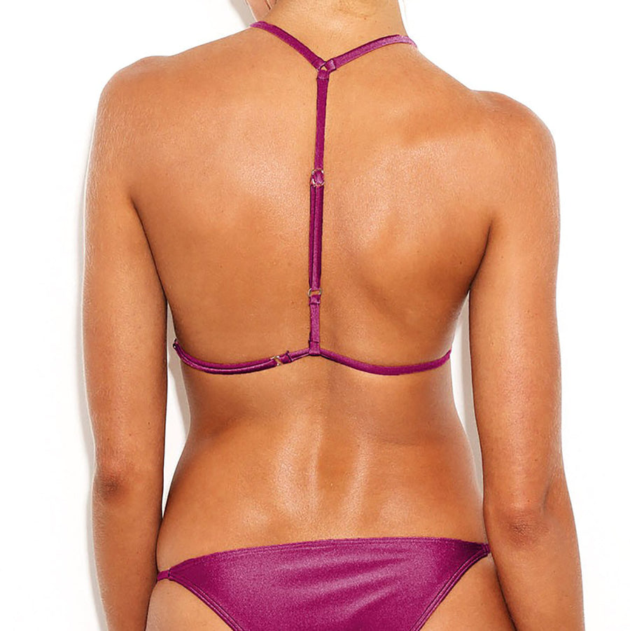Blaze Triangle Top Bikini/Mulberry