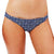 Desert Flower Cheeky Bottom Bikini/Navy Blue