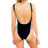 Flashback High Cut One Piece Womens Togs/Black
