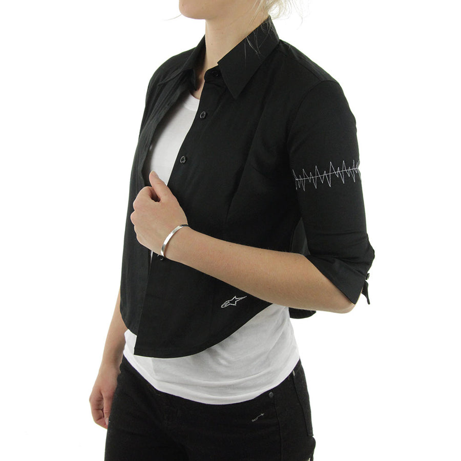 Candy Women's Collared Shirt/Black