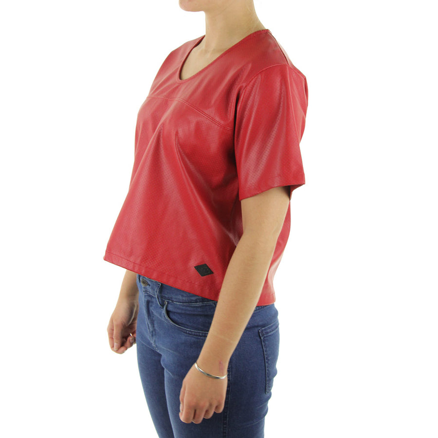 Woven Football Jersey Women's Top/True Red