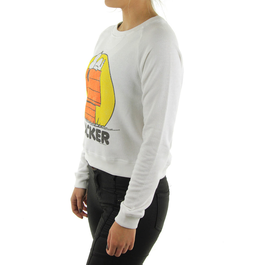 Snoopy Women's Sweatshirt/Crew/White