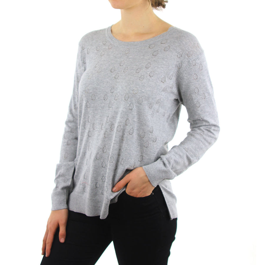 Jaquard Jumper - Grey Marle