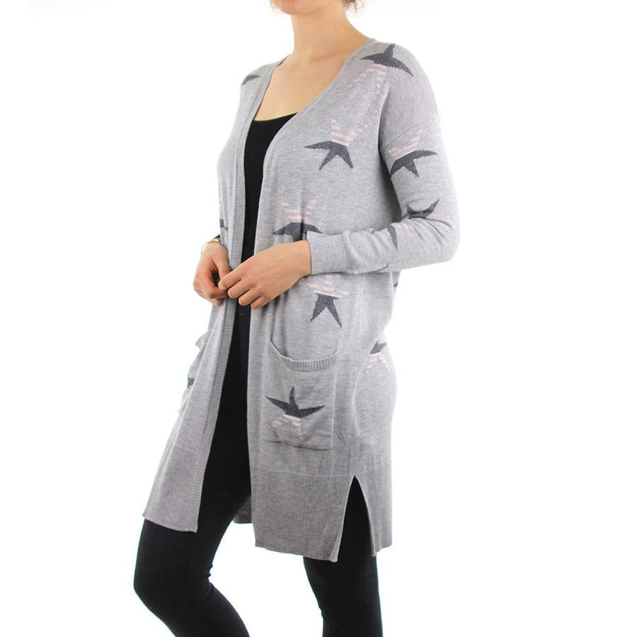 Your A Star Cardi - Grey Marle