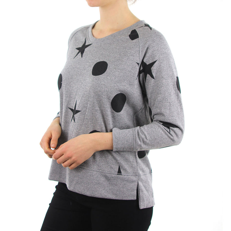 Periscope Scoop Neck - Grey Marle