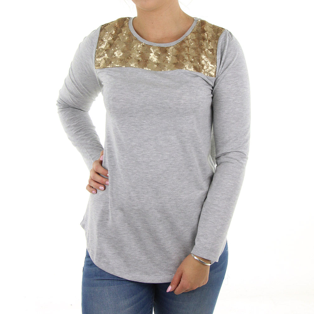 06a8662f5482 Buy Enhance Women s Top Grey Rose Gold Online in New Zealand - LAST SEASON  LIMITED