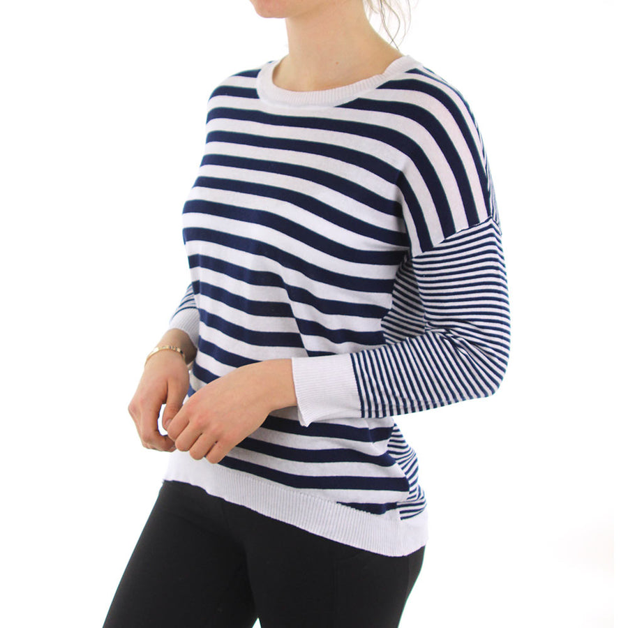 Mixer Stripe Women's Knit/Navy/White