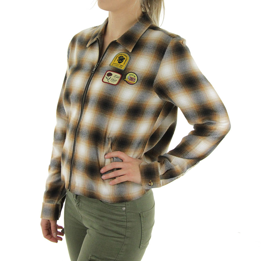 Welner Flannel Women's Collared Shirt/Brown/Multi