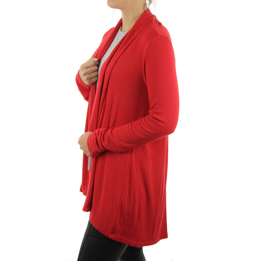 Long Women's Cardigan/Red