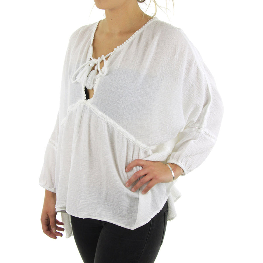 Catarina Tunic Women's Top/White