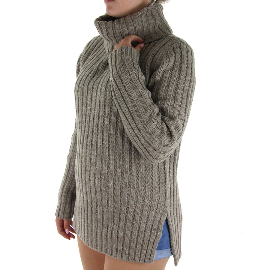 Heckle High Neck Women's Knit/Mushroom