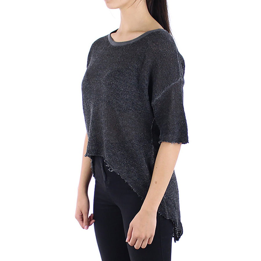 Shirt Tail Knit Women's Top