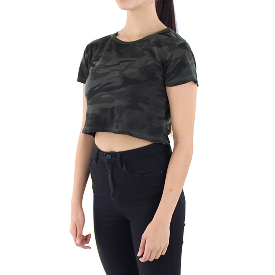 Army Crop Women's Top