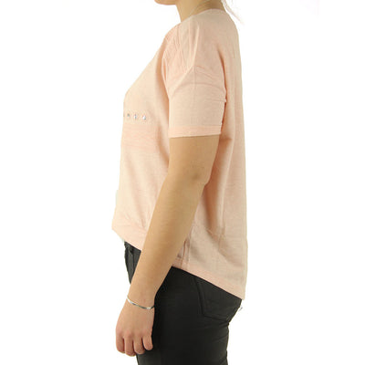 Embroidered Crop Women's Top/Peach