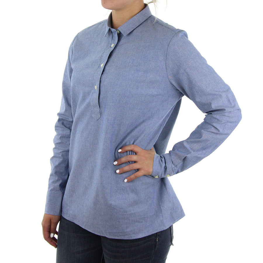Harlow Women's Collared Shirt/Soft Indigo
