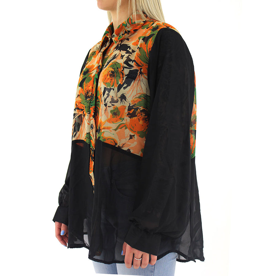 Floral Women's Top/Black