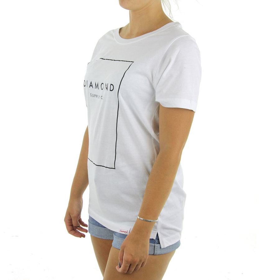 Boxed In BF Women's Tee/White