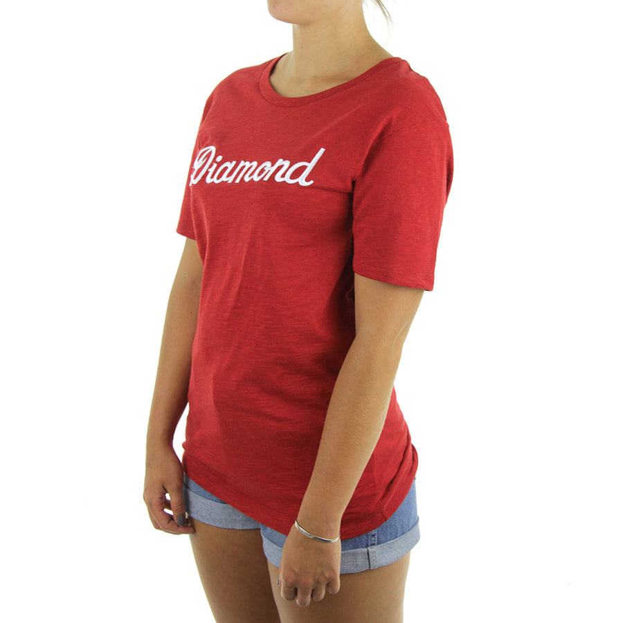 City Script Boyfriend Women's Tee/Red