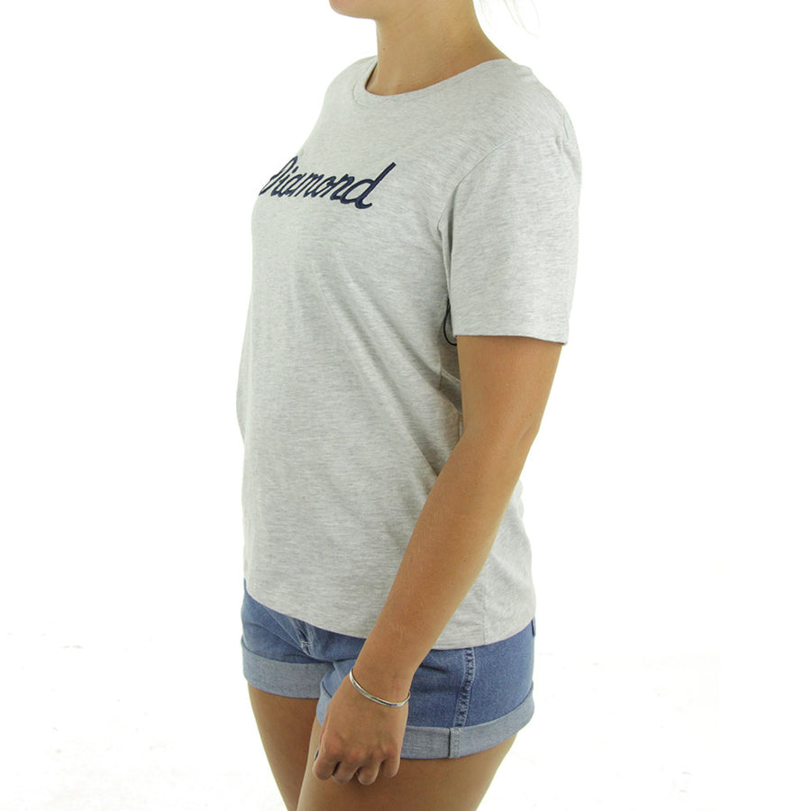 City Script Boyfriend Women's Tee/Grey Heather