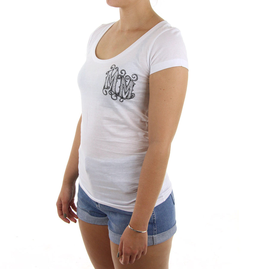 Monarch Women's Tee/White
