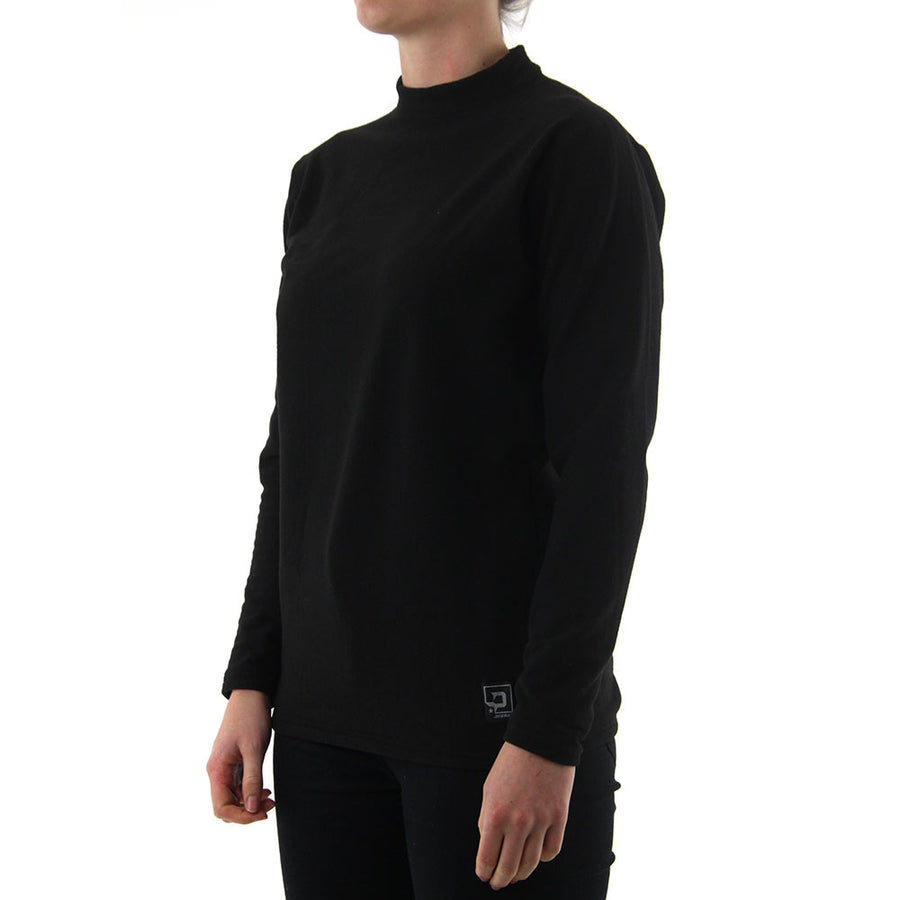 Quattro Fleece Crew Neck - Black