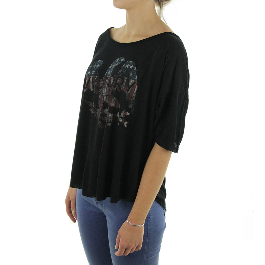 Victory Bird Womens Tee/Black