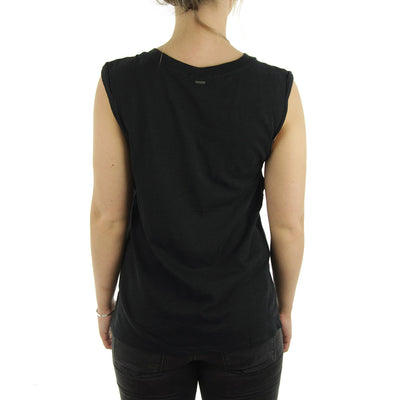 Blank Rolled Muscle Women's Tee/Black