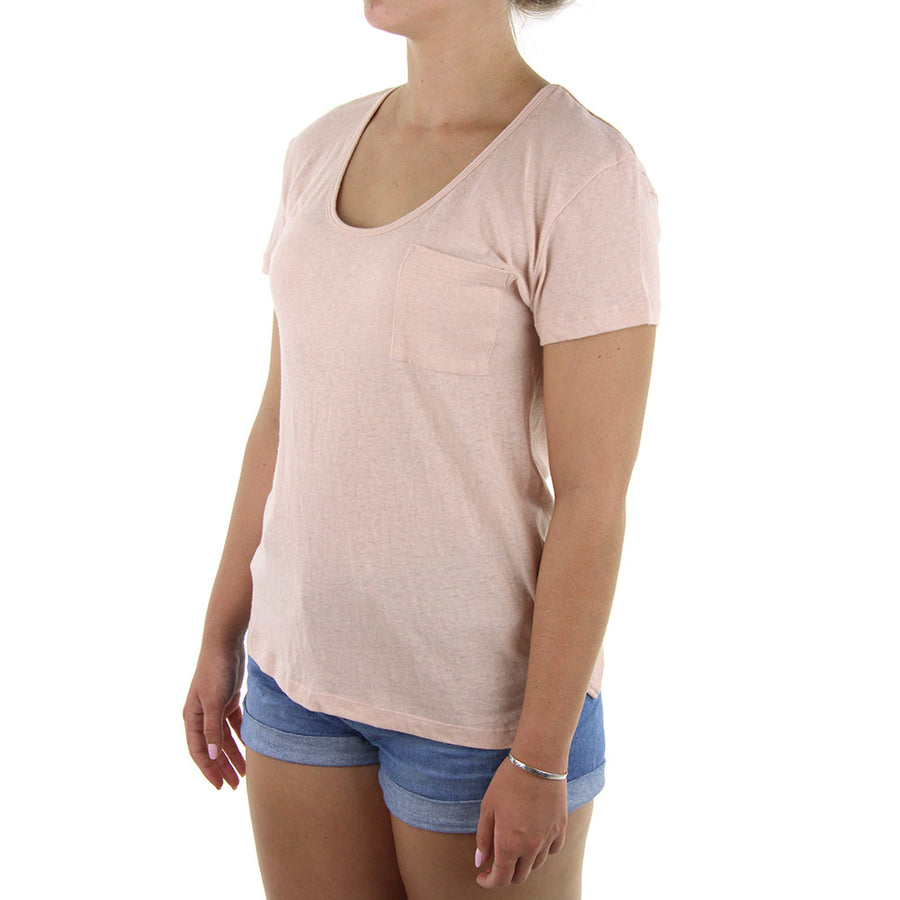 Bare/Scoop Neck Women's Tee/Ballet Pink