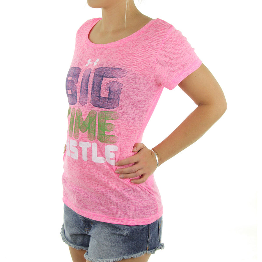 Big Time Hustle Women's Tee/Pink
