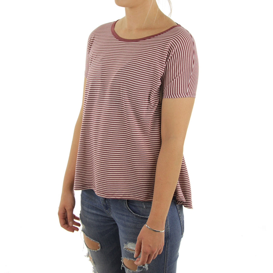 Lived In Stripe Women's Tee/Red