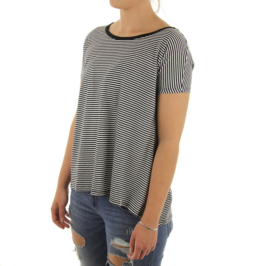 Lived In Stripe Women's Tee/Black
