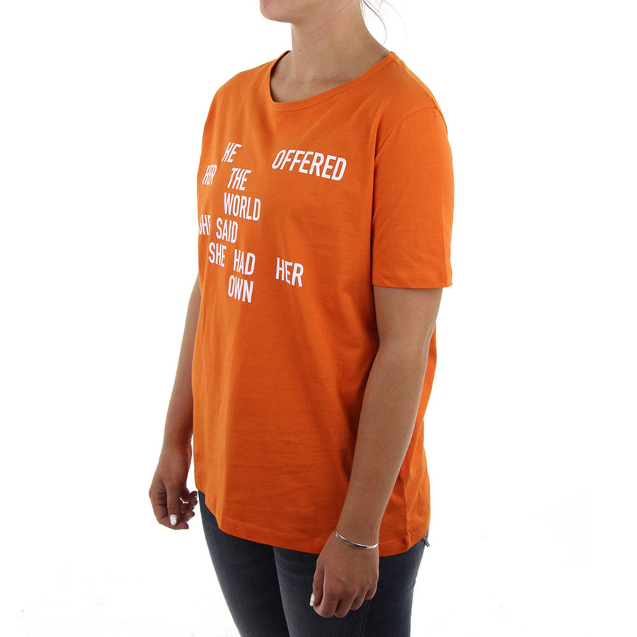 Bree Quote Women's Tee/Burnt Orange