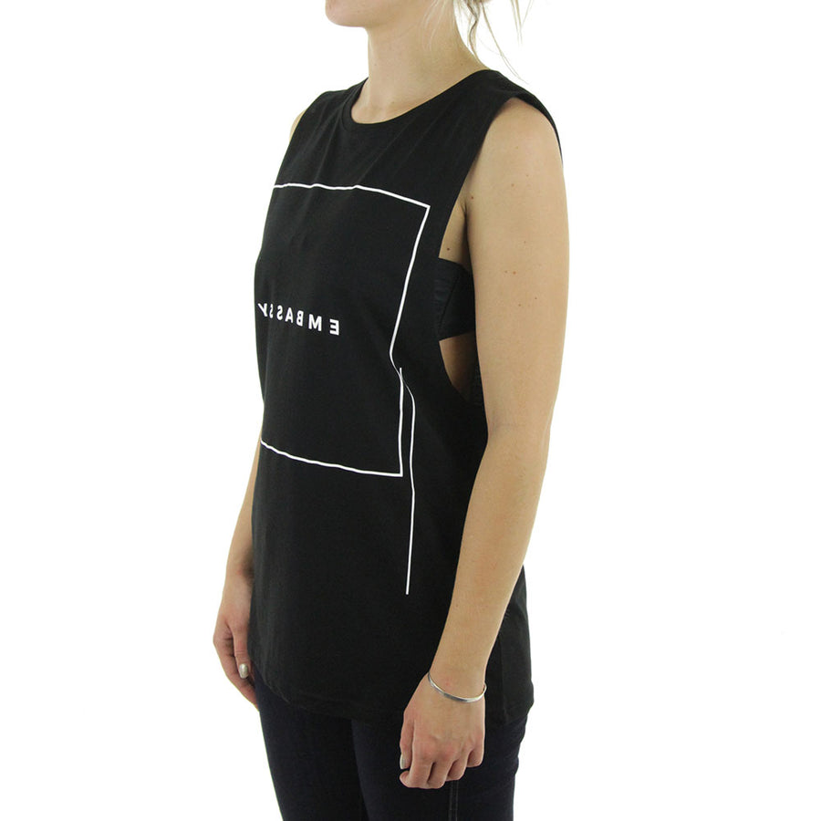 Ghost Square Womens Tank/Black