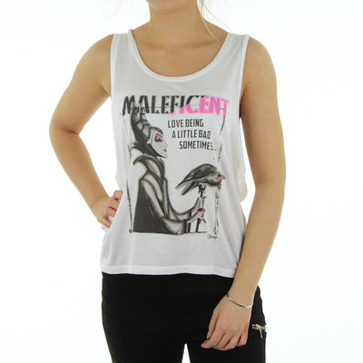Love Being A Little Bad Women's Tank/White/Pink