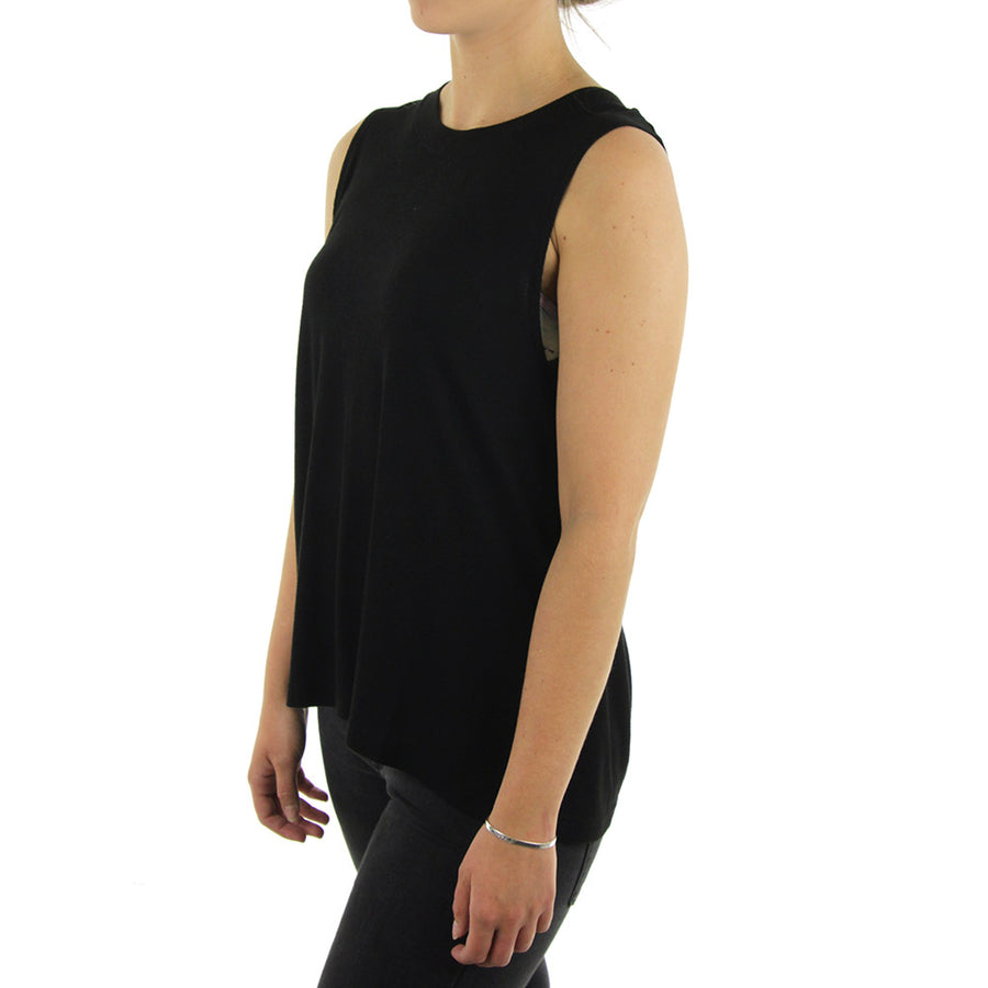 Blank Rib Muscle Women's Tank/Black