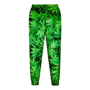 Weed Lovers Shop Clothes Green pants / S 3d Weed Lead Track Suit