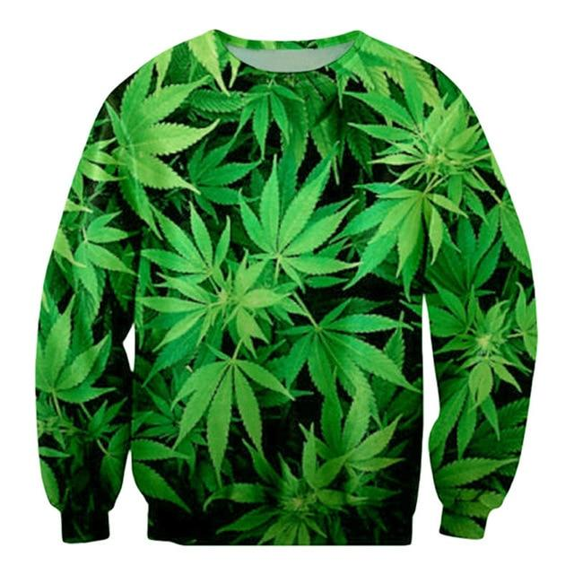 Weed Lovers Shop Clothes Green Sweatshirt / S 3d Weed Lead Track Suit