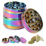 Weed Lovers Shop Grinders China / solid 40mm 4-layer Rainbow Weed Grinder