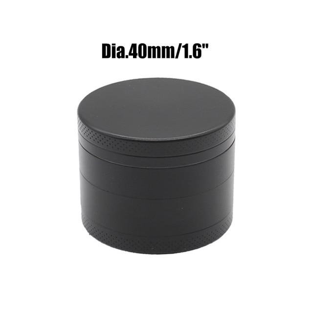 Weed Lovers Shop Grinders China / Black 40mm 4 Layers Mini Metal Weed Grinder