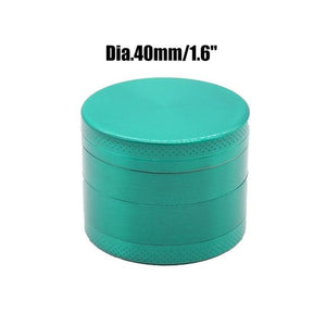 Weed Lovers Shop Grinders China / Green 40mm 4 Layers Mini Metal Weed Grinder