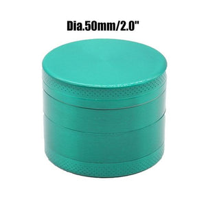 Weed Lovers Shop Grinders China / Green 50mm 4 Layers Mini Metal Weed Grinder