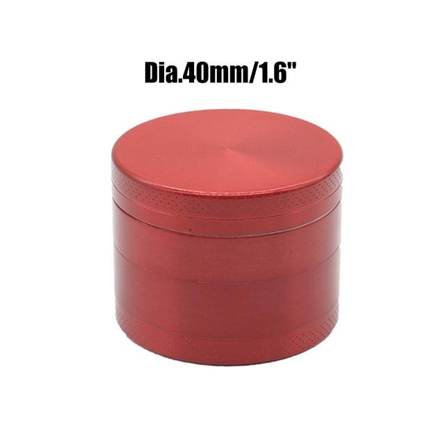Weed Lovers Shop Grinders China / Red 40mm 4 Layers Mini Metal Weed Grinder