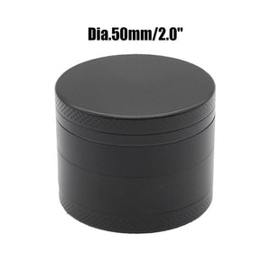 Weed Lovers Shop Grinders China / Black 50mm 4 Layers Mini Metal Weed Grinder