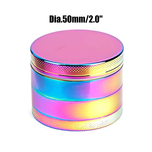 Weed Lovers Shop Grinders China / Rainbow 50mm 4 Layers Mini Metal Weed Grinder