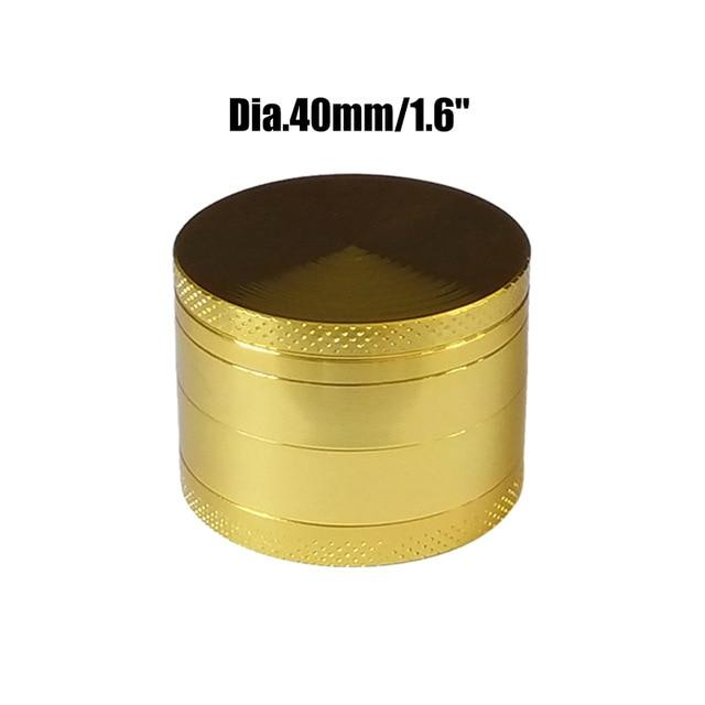 Weed Lovers Shop Grinders China / Golden 40mm 4 Layers Mini Metal Weed Grinder